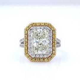 18K Gold 4.40ctw Diamond Ring Size 6