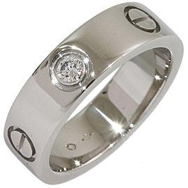 Cartier Love Platinum Diamond Ring Size 6.25