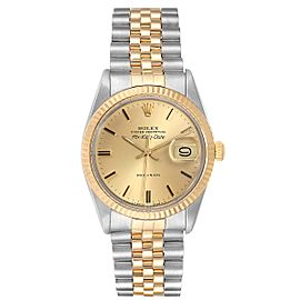 Rolex Air King Vintage Steel Yellow Gold Mens Watch 5701