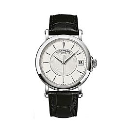Pre-Owned Patek Philippe Gent's 5153G-010 18K White Gold Calatrava 38mm, B+P
