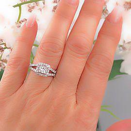 18K White Gold Diamond Engagement Ring Size 6