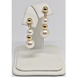 14K Yellow Gold Cultured Ayoka Pearl Earrings