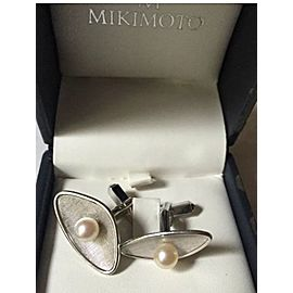 Mikimoto Sterling Silver Cultured Ayoka Pearl Cufflinks