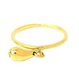 Tiffany & Co. 18K Yellow Gold Tear Drop Band Ring Size 4.5