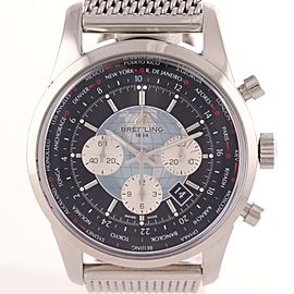 Breitling Transocean Chronograph Unitime AB0510 46mm Mens Watch