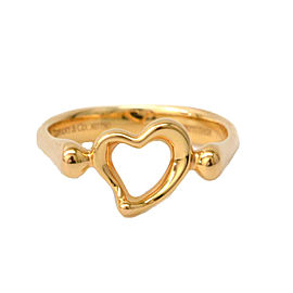 Tiffany & Co. 18K Rose Gold Heart Ring Size 6