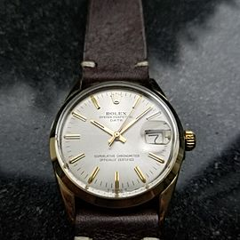 Rolex Oyster Perpetual Date 1550 Vintage 34mm Mens Watch