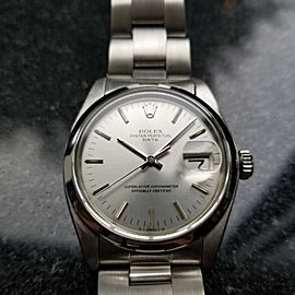 Rolex Oyster Perpetual Date 1500 Vintage 34mm Mens Watch