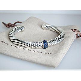 David Yurman Sterling Silver Sapphire Bracelet
