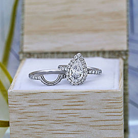 Platinum Three-stone Engagement GIA Certified 2.16ct Diamond Ring-Set