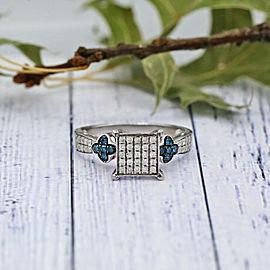 14k White Gold Fashion ring features 1.00ct of TCW White diamonds