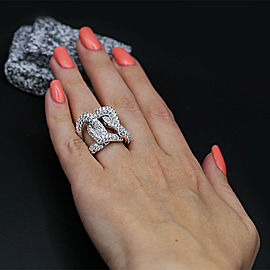 18k White Gold Cocktail Ring features 5.79ct of total Diamond weight.