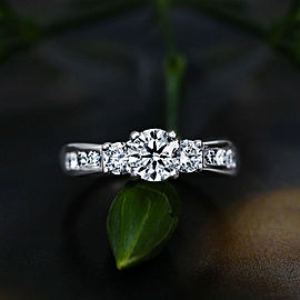 14k White Gold Engagement Ring features 1.75 ct of Diamonds