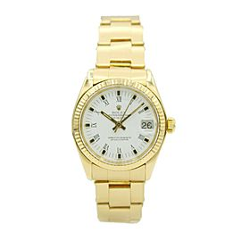 Ladies Rolex Datejust Presidential 18k Yellow Gold w/ White Dial 6827