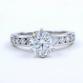 Tiffany & Co Platinum Diamond Engagement Ring Round Cuts 1.73 tcw