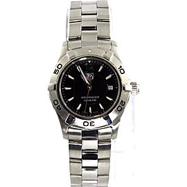 BEAUTIFUL TAG HEUER LADIES AQUARACER WAF1410.BA0824 BLACK SWISS QUARTZ WATCH