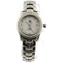 SALE PRICED TAG HEUER LADIES LINK WJ131A.BA0572 DIAMOND PEARL WATCH BOX & PAPERS