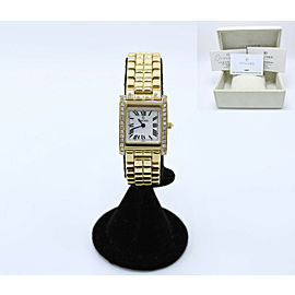 Concord LA TOUR Ladies Watch 14K Yellow Gold Diamond Bezel Box & Papers