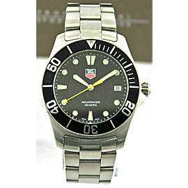 TAG HEUER AQUARACER WAB1110.BA0800 QUARTZ SUBMARINER MENS BLACK WATCH