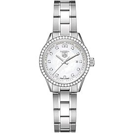 STUNNING TAG HEUER LADIES CARRERA WV1413.BA0793 DIAMOND MOTHER OF PEARL WATCH
