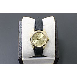 Rolex Ladies Date 69178 18K Yellow Gold