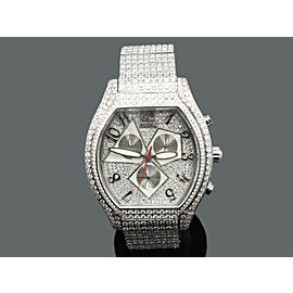 Jacob & Co Quasar Chronograph 33ct Diamonds Stainless Steel Watch