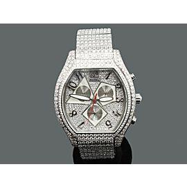 Jacob & Co Quasar Chronograph 33ct Diamonds Stainless Steel Watch