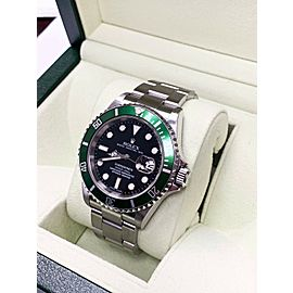 Rolex Submariner 16610 Kermit Green and Black Stainless Steel Box & Papers