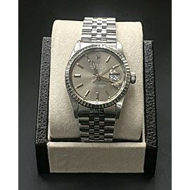 Rolex Datejust 16030 Dark Gray Dial Stainless Steel Mint Band