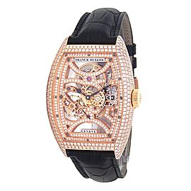 Franck Muller Cintree Curvex 18k Rose Gold Manual Wind Watch 8880 B S6 SQTDMVT D