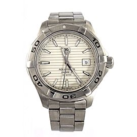 TAG HEUER AQUARACER AUTO CALIBRE 5 SILVER WATCH WAP2011.BA0830