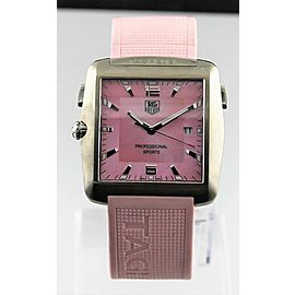 TAG HEUER PROFESSIONAL WAE1114.FT6011 GOLF PINK MOTHER OF PEARL RUBBER WATCH