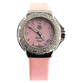 TAG HEUER WOMEN'S FORMULA 1 WAC1216.FC6220 PINK PEARL DIAMOND WATCH