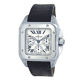 Cartier Santos 100 Chronograph Stainless Steel Automatic Men's Watch W20090X8