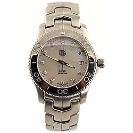 ORIGINAL TAG HEUER MENS LINK WJ1114.BA0570 MOTHER OF PEARL DIAMOND STEEL WATCH