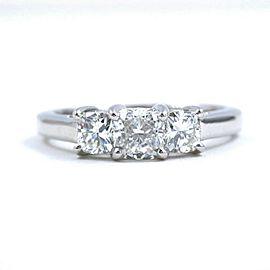 Blue Nile 3 Stone Platinum Diamond Engagement Ring Cushions0.96 tcw