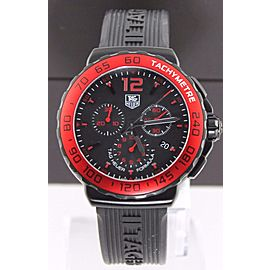 ORIGINAL TAG HEUER FORMULA 1 CAU1117.FT6024 QUARTZ CHRONOGRAPH RUBBER MENS WATCH