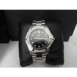 TAG HEUER AQUARACER WAF111D.BA0810 DIAMOND BLACK DIAMOND GENTS WATCH