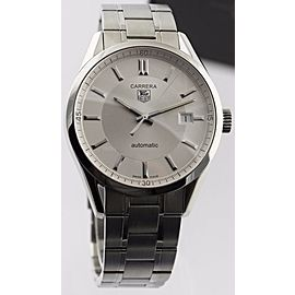 AUTNENTIC TAG HEUER CARRERA WV211A.BA0787 AUTOMATIC MENS SILVER LUXURY WATCH
