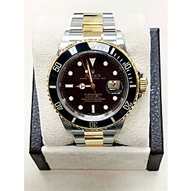 Rolex Submariner Black 16613 18K Yellow Gold & Stainless Steel Mint 2007