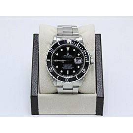 Rolex Submariner Date 16610 Black Stainless Steel Box & Papers