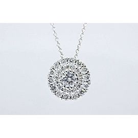 Roberto Coin Classics Diamond Pendant Necklace in 18k White Gold $3,800 Retail