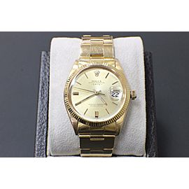 Vintage Rolex Date 1501 34mm 18K Yellow Gold 1965