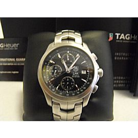 TAG HEUER LINK CHRONO AUTOMATIC STEEL BLACK WATCH CJF2110.BA0576