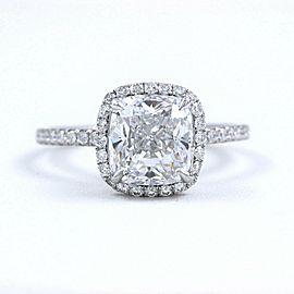 Harry Winston The One Cushion Diamond Engagement Ring 2.55 tcw E VVS1 Platinum