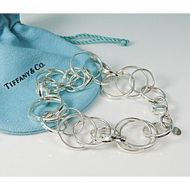 Tiffany & Co. 1837 Interlocking Circles Bracelet Size Large