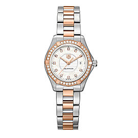 TAG HEUER AQUARACER WAP1452.BD0837 DIAMOND PEARL 18K ROSE GOLD LADIES WATCH
