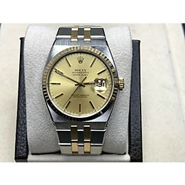Rolex Oysterquartz 17013 Champagne Dial 18K Yellow Gold & Stainless Steel