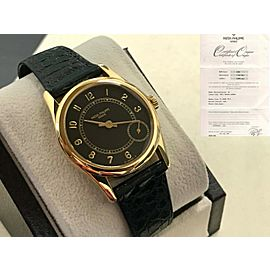 Patek Philippe Calatrava 5000 18K Yellow Gold Black Dial