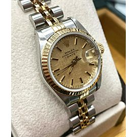 Rolex Ladies Date 69173 18K Yellow Gold & Stainless Steel Box & Papers